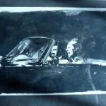 24LA ESCAPADA. Aguada sobre papel. 19 x 13 cm.